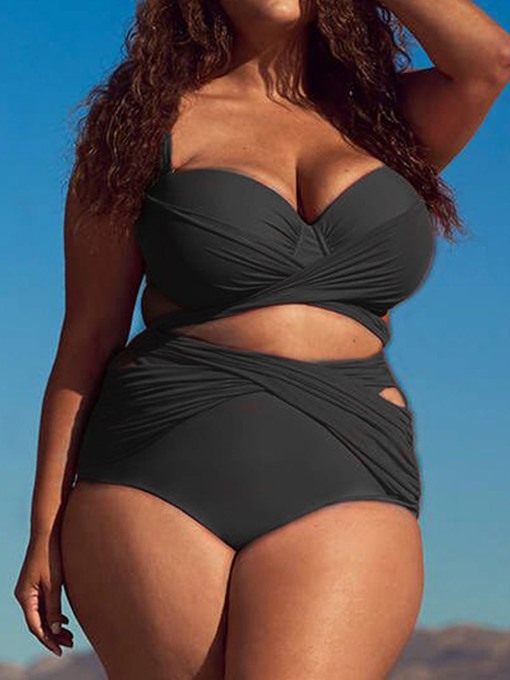Ericdress Plus Size Pleated Sexy Tankini Set Swimwear