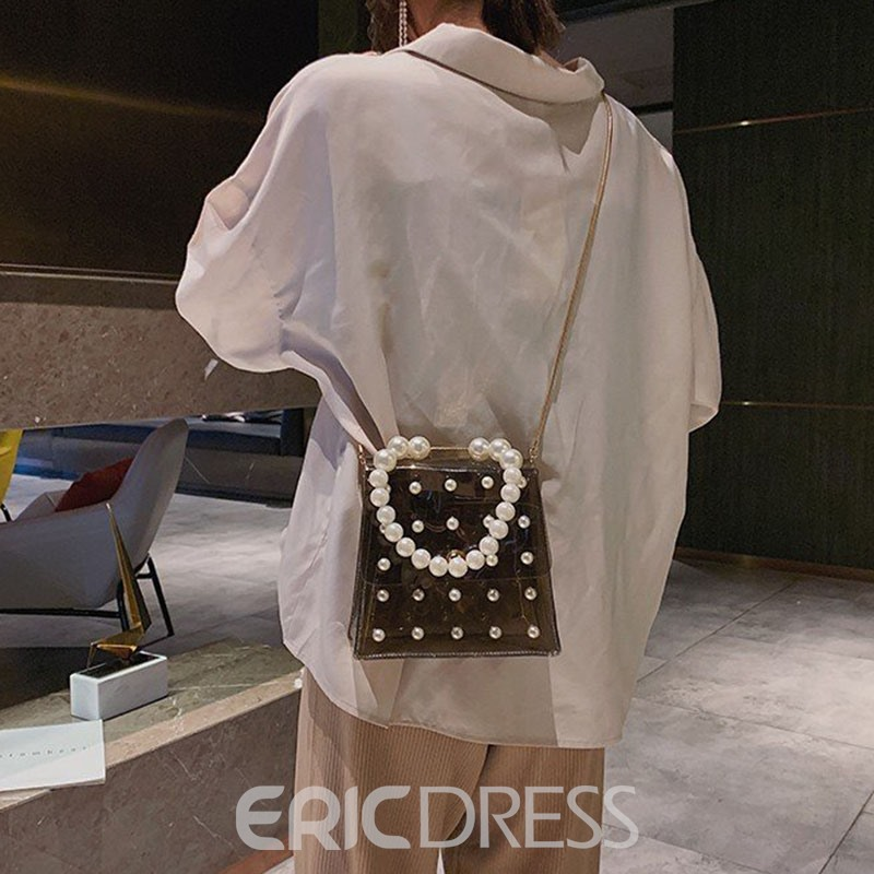 Ericdress PVC Beads Plain Tote Bags