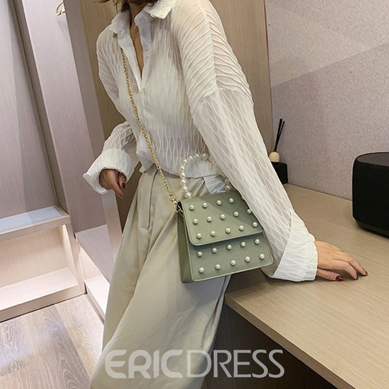Ericdress Plain Beads Rectangle Tote Bags