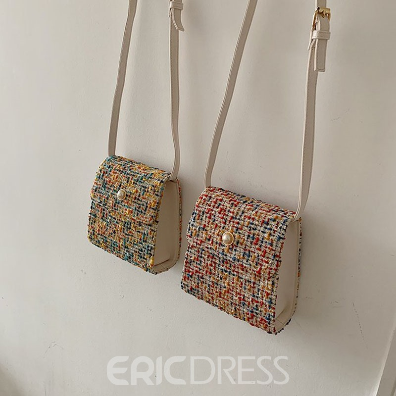 Ericdress Beads Rectangle Crossbody Bags