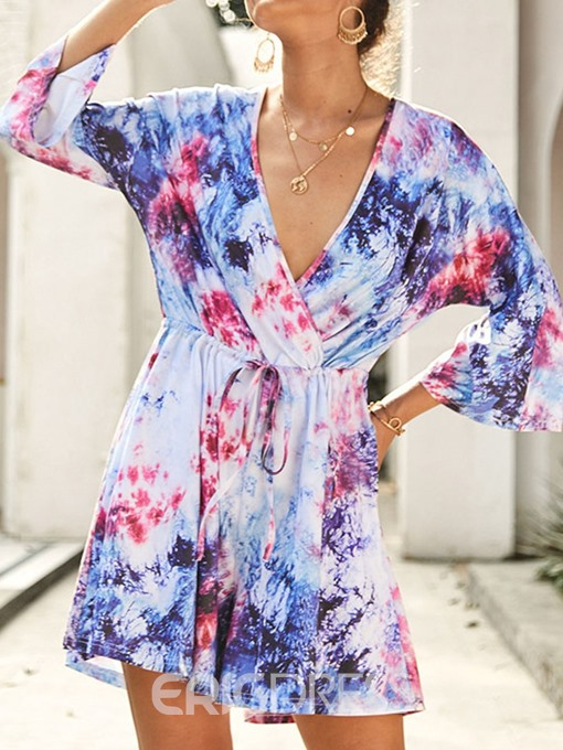 Ericdress Fashion Shorts Print Loose Romper