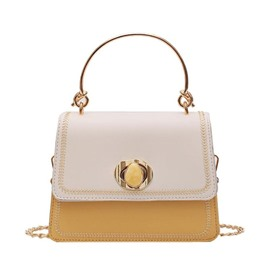 Ericdress PU Chain Patchwork Flap Tote Bags