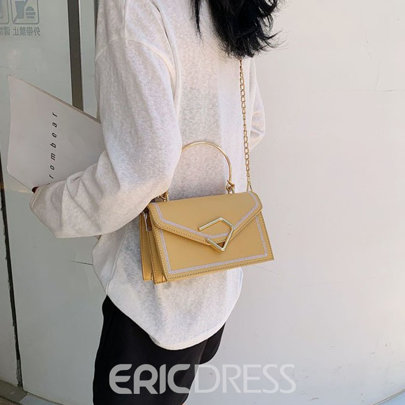Ericdress PU Patchwork Thread Rectangle Tote Bags