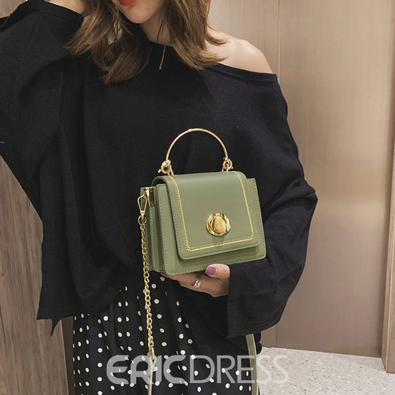 Ericdress PU Chain Flap Tote Bags