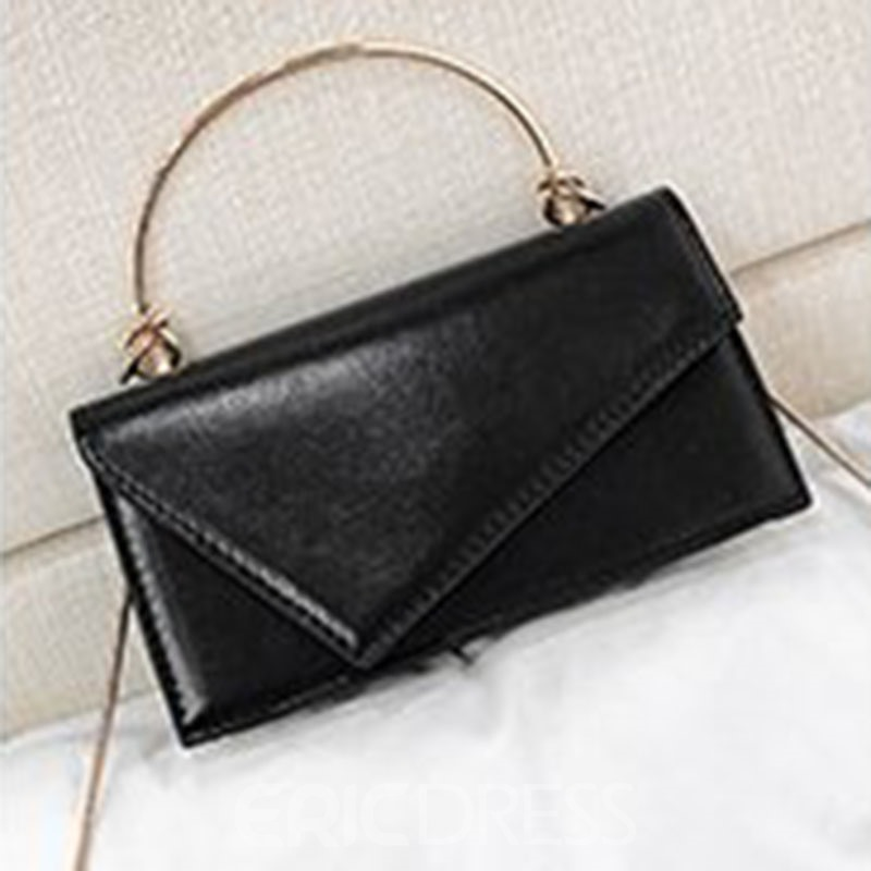 Ericdress Plain Chain Rectangle Tote Bags