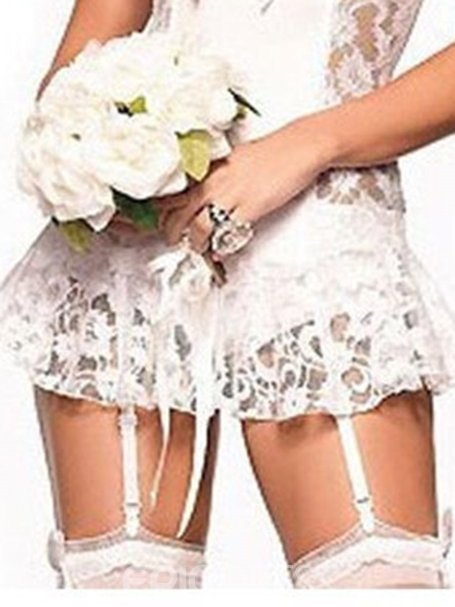 Ericdress Lace Floral Polyester Schoolgirl Clothes Sexy Costumes