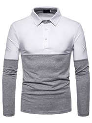 Ericdress Button Mens Casual Polo Shirt фото