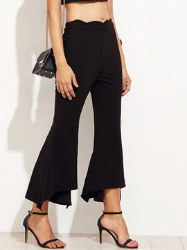 Ericdress Plain Zipper Loose Bellbottoms Ankle Length Casual Pants