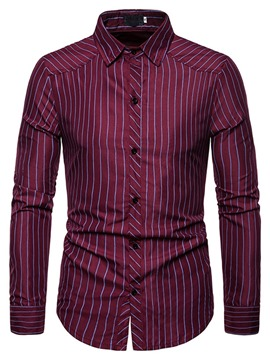 Ericdress Lapel Fashion Print Men's Slim Shirt