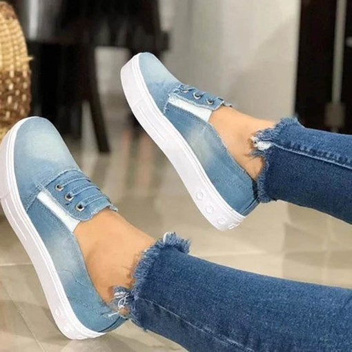 Ericdress Denim Slip-On Round Toe Women's Flats
