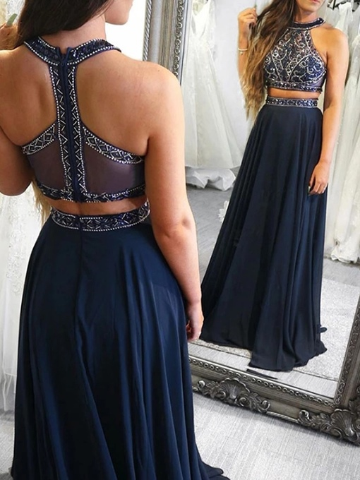 Ericdress Halter A-Line Prom Dress 2019