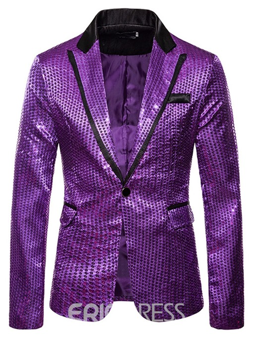 Ericdress Slim Color Block One Button Men's leisure Blazer