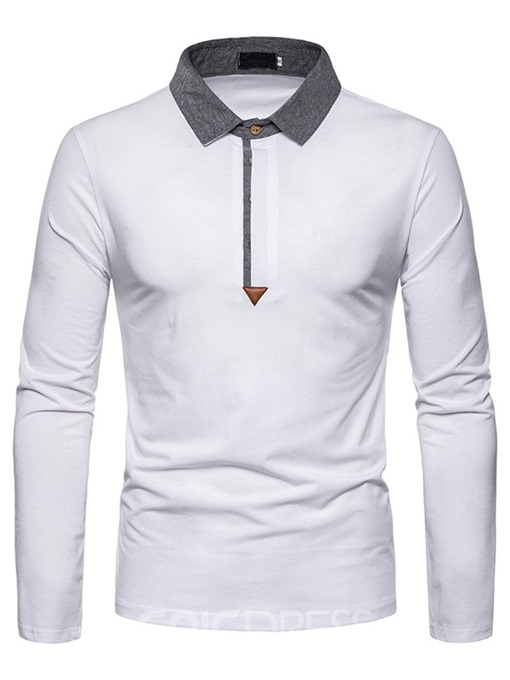 Ericdress Casual Color Block Men's Polo Shirt