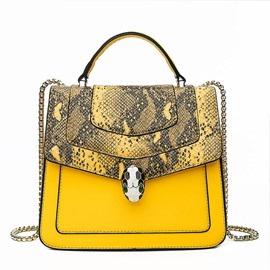 Ericdress PU Patchwork Serpentine Flap Tote Bags