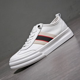 Ericdress Stripe Color Block Elastic Band Men's Skate Shoes