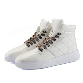 Ericdress Plain High-Cut Upper Lace-Up Round Toe Men's Skate Shoes