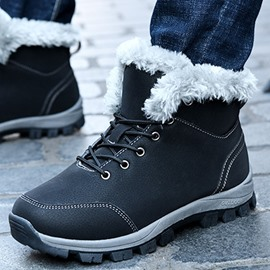 Ericdress Simple Lace-Up Men's Outdoor Snow Boots