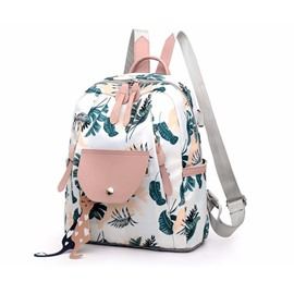 Ericdress Oxford Print Flap Pocket Backpacks