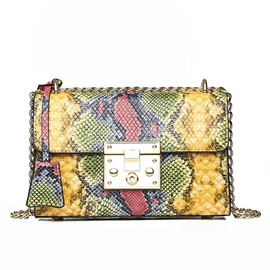 Ericdress PU Serpentine Chain Rectangle Crossbody Bags