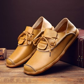 Ericdress Plain Lace-Up Round Toe Men's Work Shoes