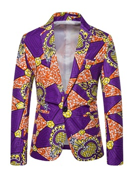 Ericdress Loose One Button Print Men's leisure Blazer
