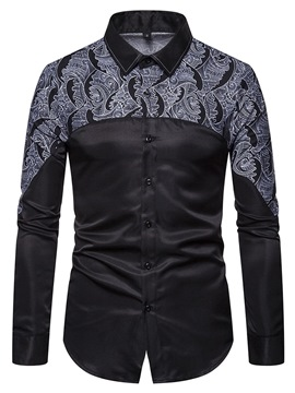 Ericdress Regular Button Lapel Men's Single-Breasted Shirt