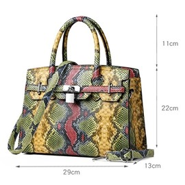 Ericdress PU Embossing Serpentine Rectangle Tote Bags