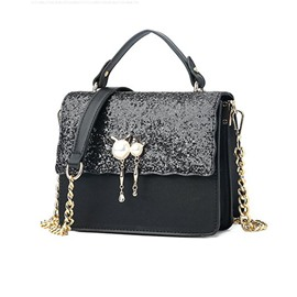 Ericdress PU Sequin Beads Flap Tote Bags