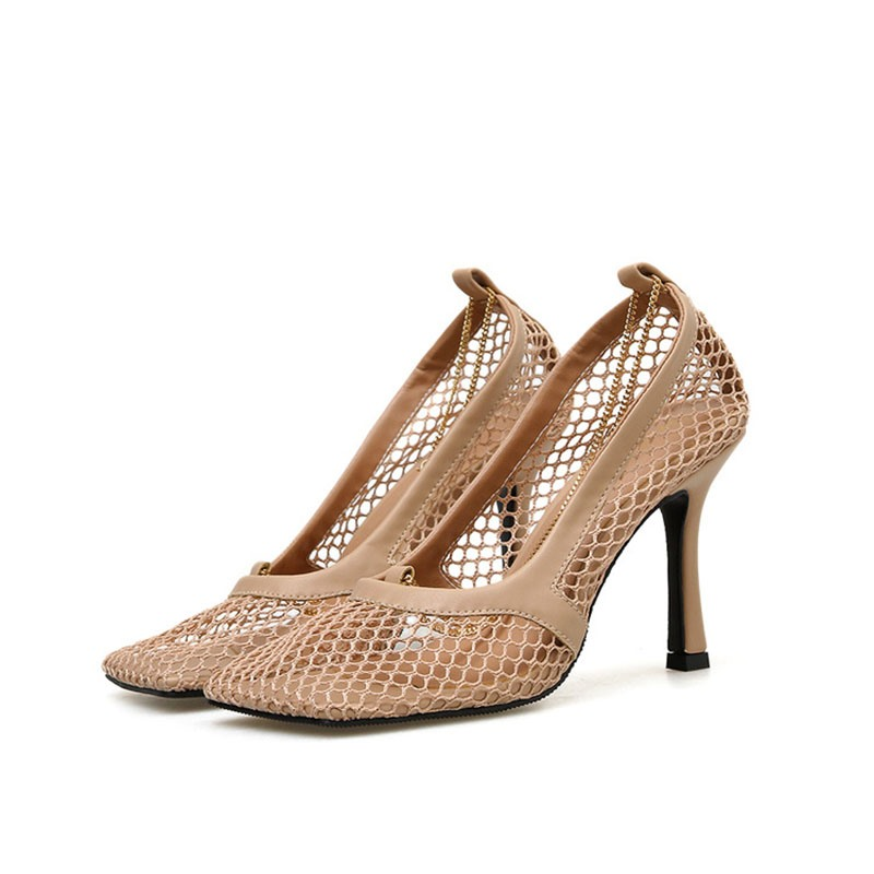 Ericdress Mesh Stiletto Heel Hollow Slip-On Women's Pumps