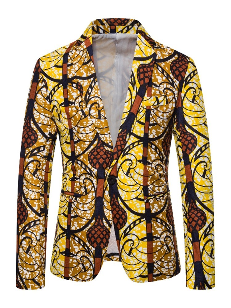Ericdress Print Casual One Button Men's leisure Blazer