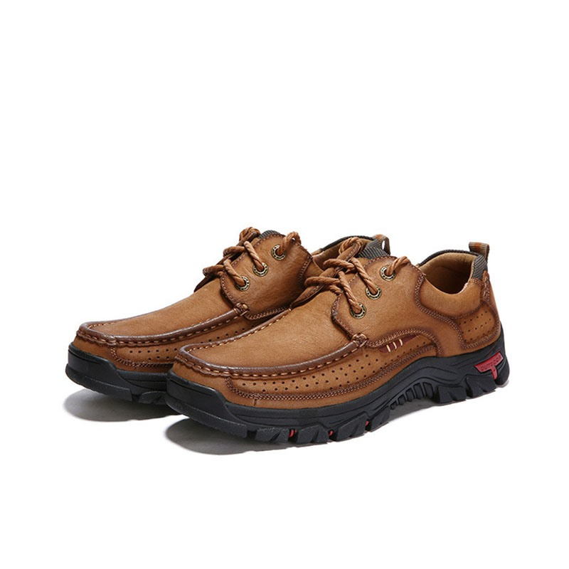 Ericdress Lace-Up Square Toe Men's Hiking Shoes