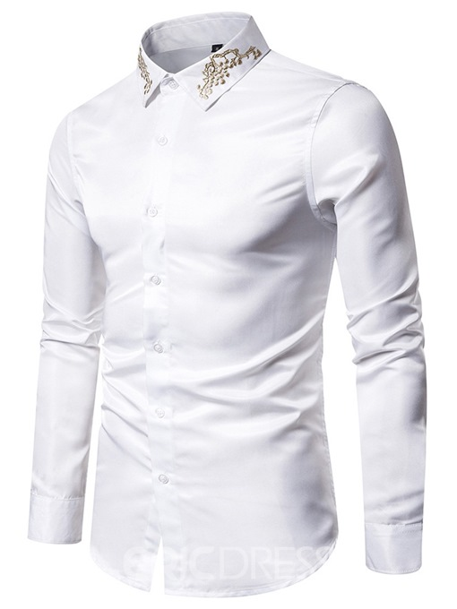 Ericdress Casual Lapel Button Men's Single-Breasted Shirt