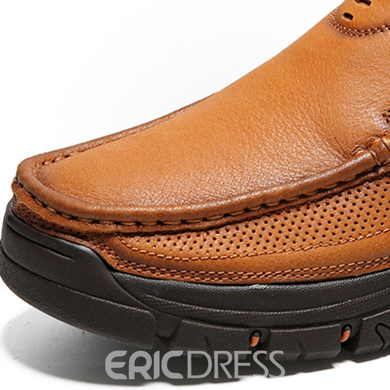 Ericdress Plain Slip-On Low-Cut Upper Round Toe Men's Work Shoes