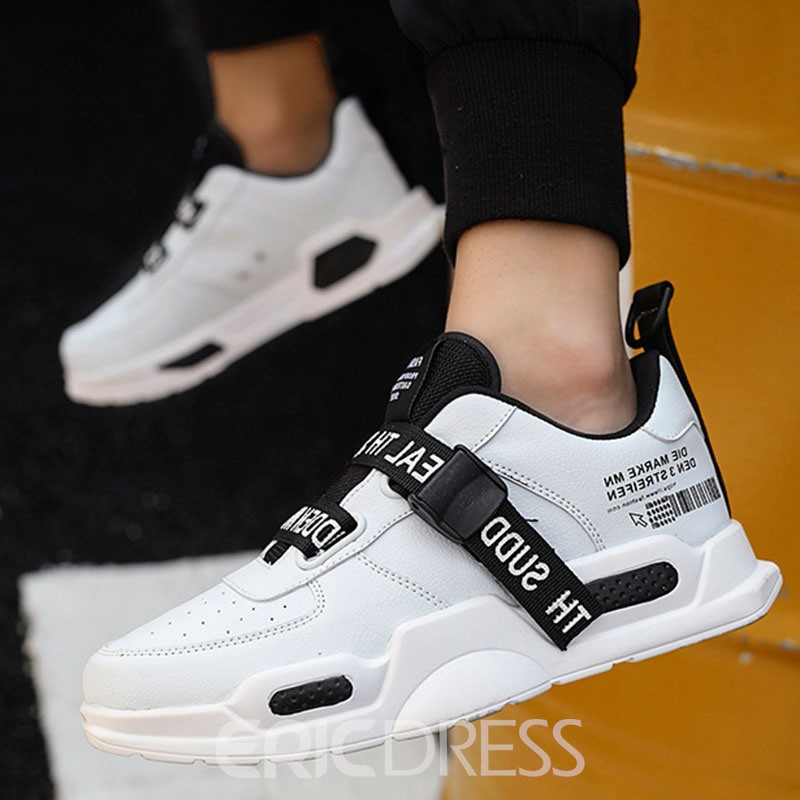 Ericdress Patchwork Letter Low-Cut Upper Round Toe Men's Sneakers
