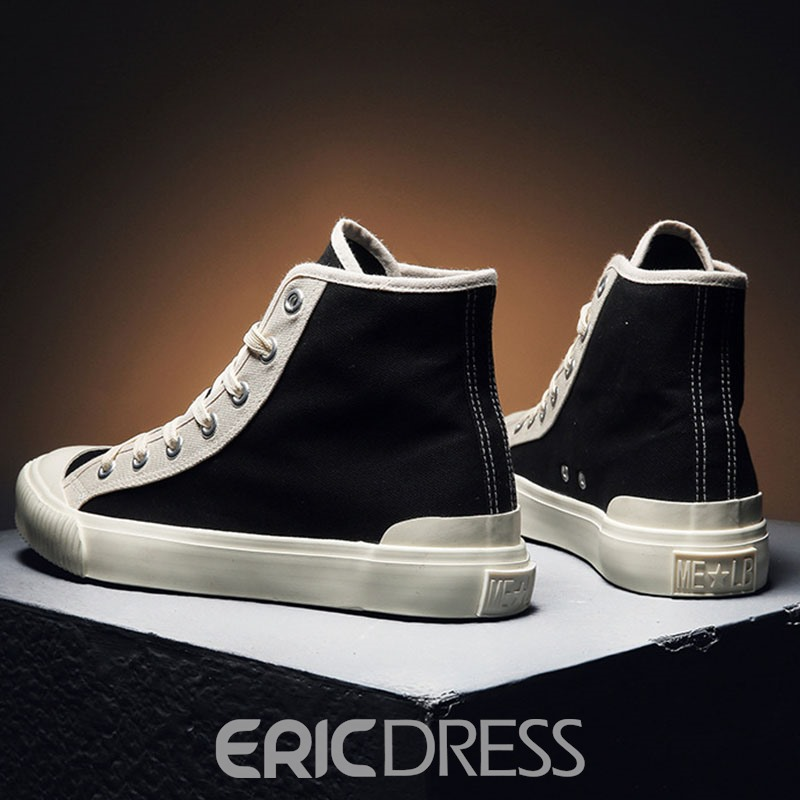 Ericdress Lace-Up Color Block High-Cut Upper Round Toe Men's Skate Shoes