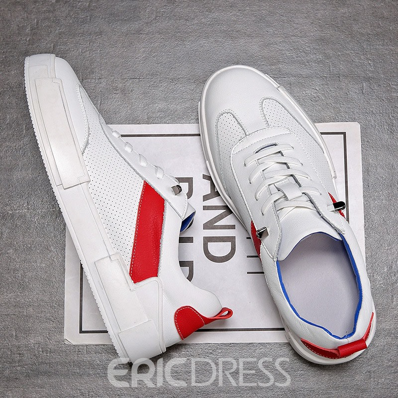 Ericdress Elastic Band Color Block Round Toe Men's Skate Shoes