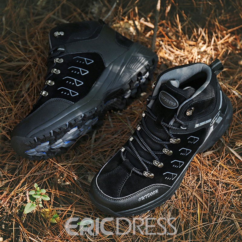 Ericdress Lace-Up Mid-Cut Upper Men's Outdoor Sneakers