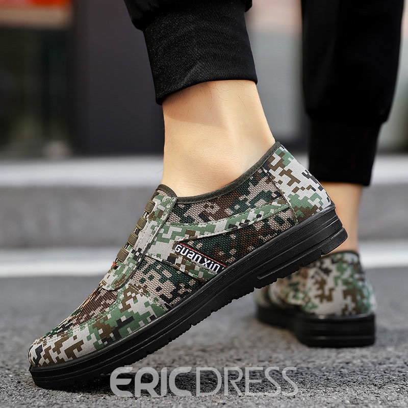 Ericdress Camouflage Low-Cut Upper Round Toe Men's Skate Shoes