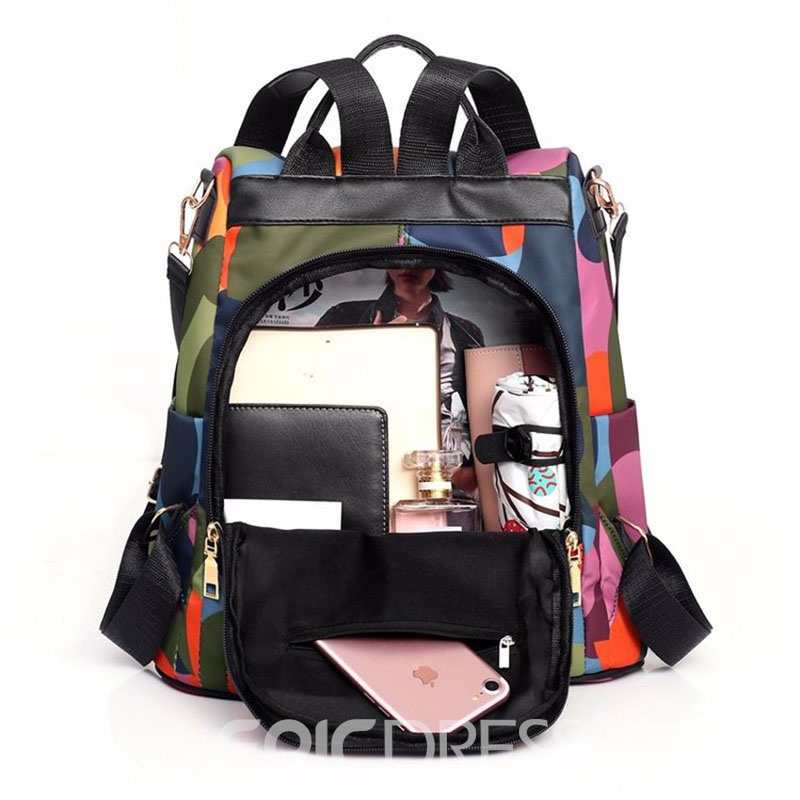 Ericdress Zipper Open Pocket Oxford Backpacks