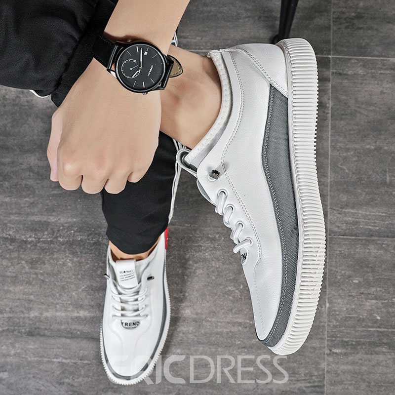 Ericdress Simple Color Block Round Toe Men's Skate Shoes