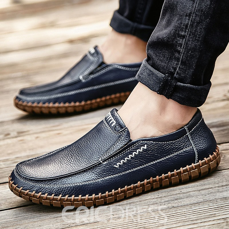 Ericdress PU Slip-On Round Toe Men's Work Shoes