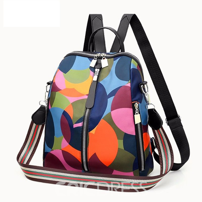 Ericdress Print Oxford Soft Silt Pocket Backpacks