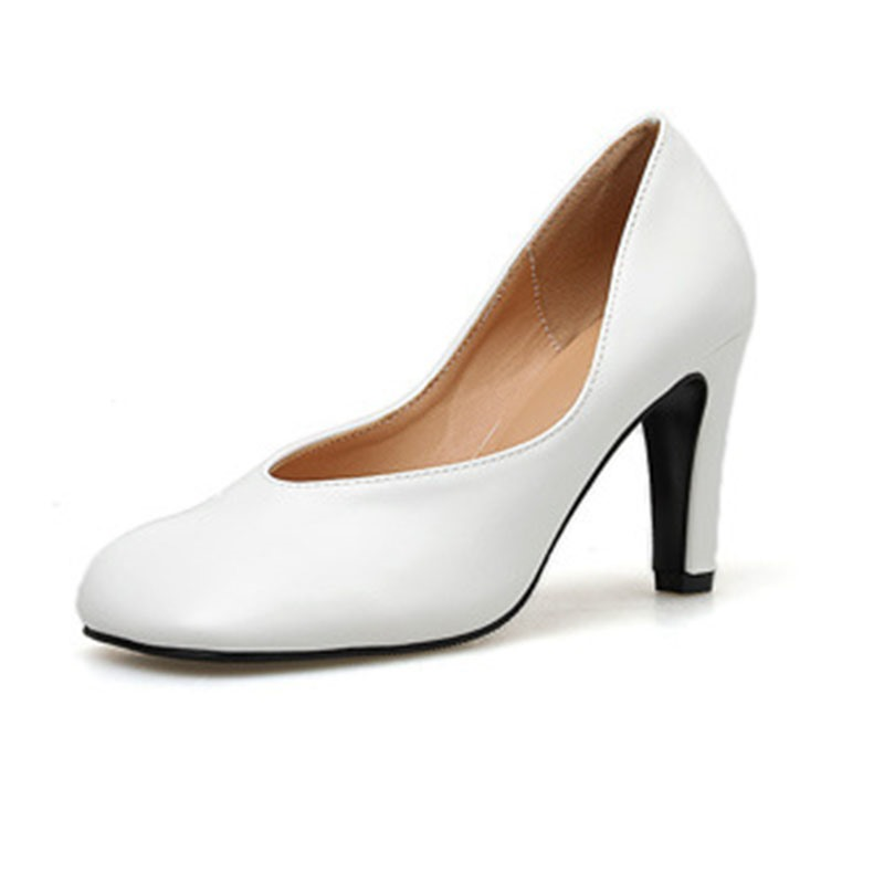 Ericdress PU Slip-On Square Toe Stiletto Heel Women's Pumps