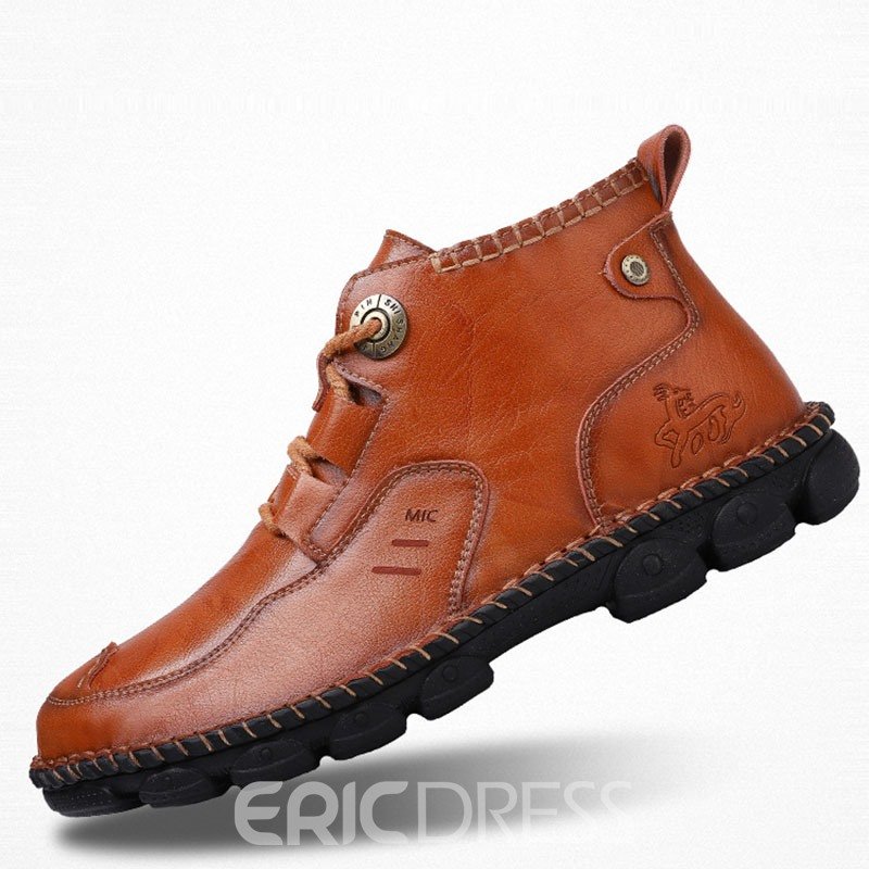 Ericdress PU Lace-Up Men's Work Shoes