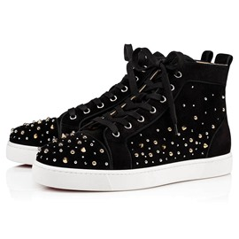 Ericdress Plain Rivet Lace-Up Round Toe Men's Skate Shoes