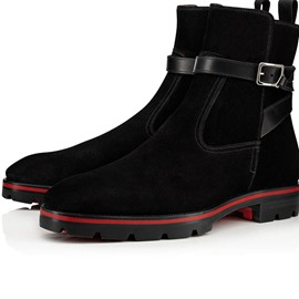 Ericdress Round Toe Patchwork Men's Hasp Boots