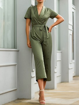 Ericdress Mid-Calf Plain Fashion Straight Loose Jumpsuit
