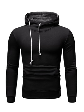 Ericdress Pocket Plain Men's Regular Hoodies