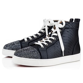 EricdressPatchwork High-Cut Upper Lace-Up Round Toe Men's Skate Shoes