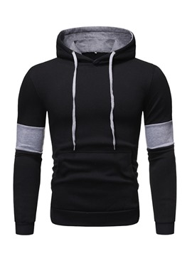 Ericdress Regular Pocket Color Block Loose Men's Casual Hoodies